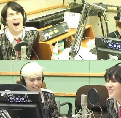 I laughed so hard at key!!!!!!!! Key can't stop laughing at Taemin's cover of EXO's 'MAMA'