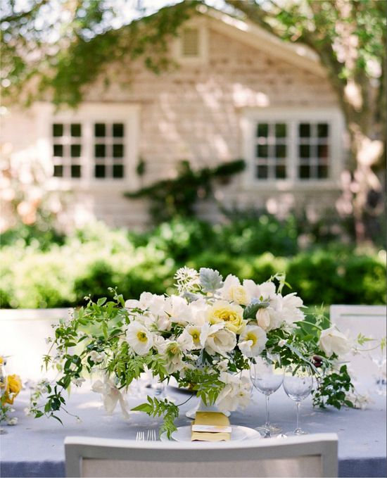 pretty white centerpiece