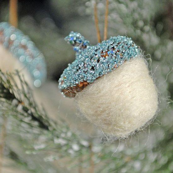 felt acorn tree ornament