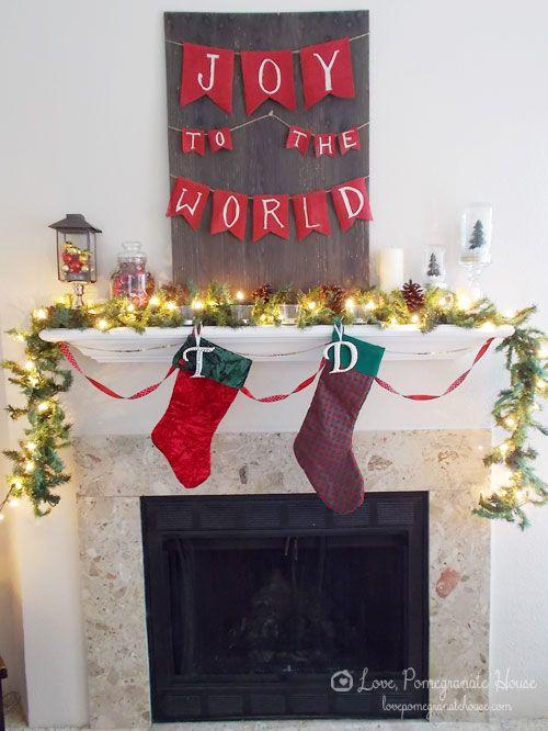 Christmas Mantel and Tree
