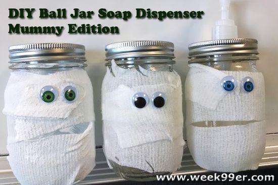DIY Gift Idea: Ball Jar Soap Dispenser - Mummy Edition!