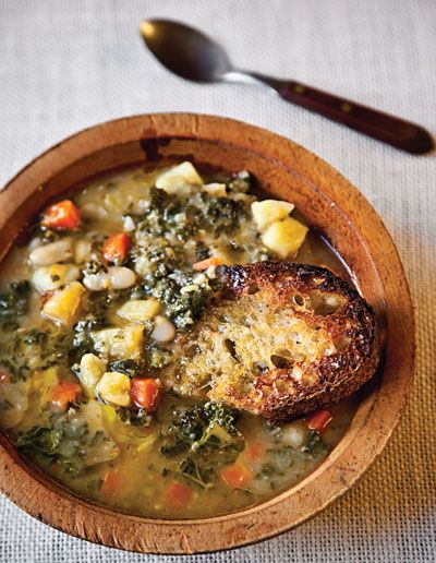 Another must make soup! Tuscan Bean Soup Recipe - Saveur.com