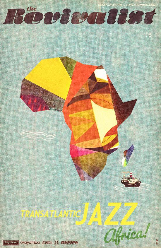 vintage travel poster africa