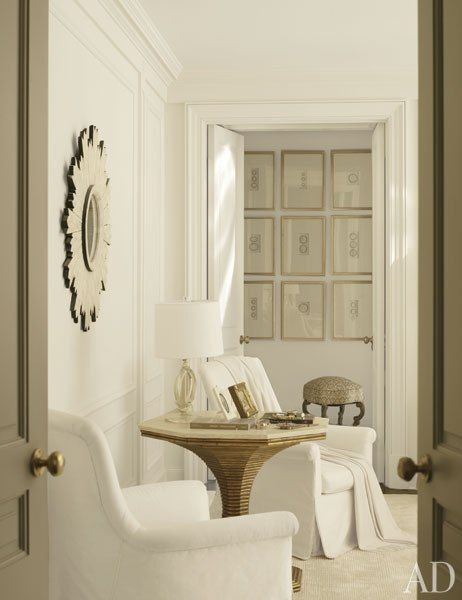 Suzanne Kasler's master bedroom in Architectural Digest / table by BeeLine Home