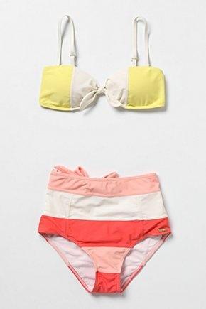 High Sun Bikini from anthropologie (via Creature Comforts) #anthropologie #bikini #swim #melon #sherbet #sun
