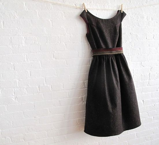 """TWEED tea dress...perfect fall dress..with boots!!"""
