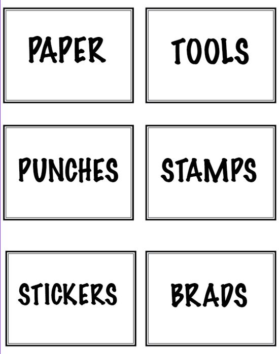 Free printable storage labels in many colors!
