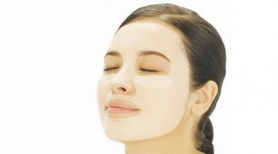 Homemade facial mask with rose