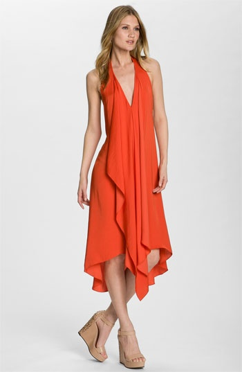 BCBGMAXAZRIA 'Sahale' Cascade Halter Dress | #Nordstrom