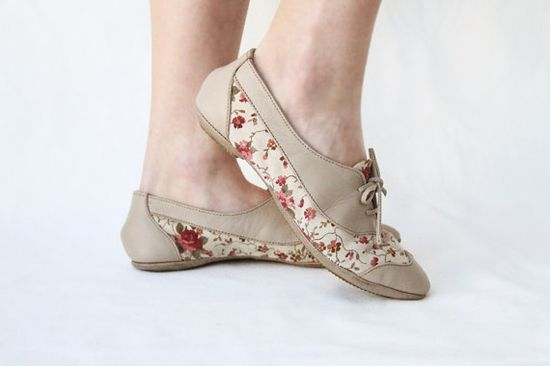 handmade floral shoes.