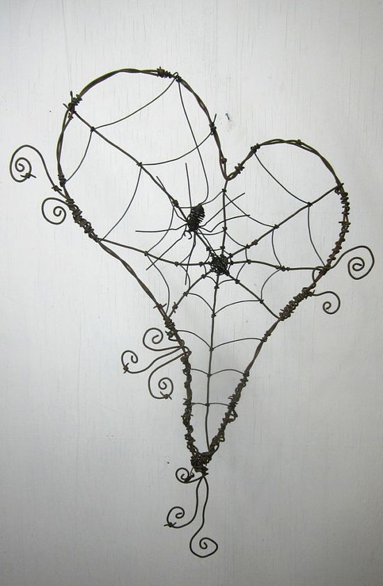 Wired Heart spiders web @Ronae Straley