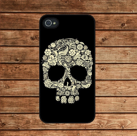 Floral skull iPhone case.