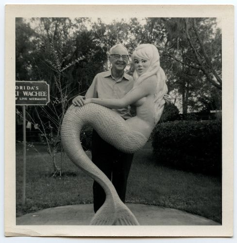 oh.my.word... i have this very same shot of my daddy from the 60s... except his arm is under the mermaids knees, where it should be... via Design Love Fest
