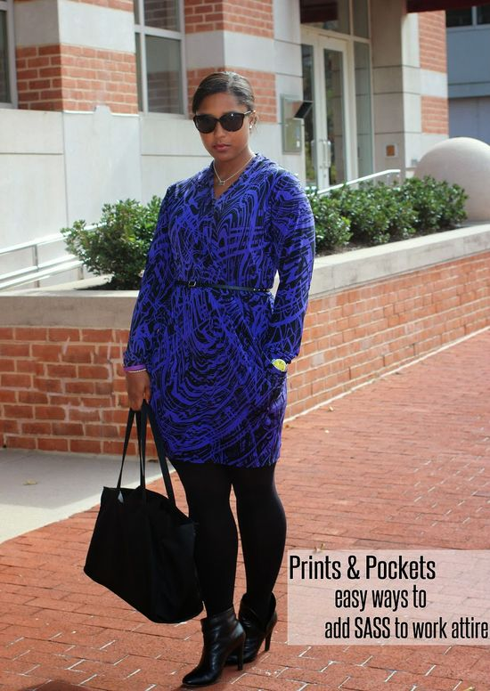 printed dress work outfit street style booties