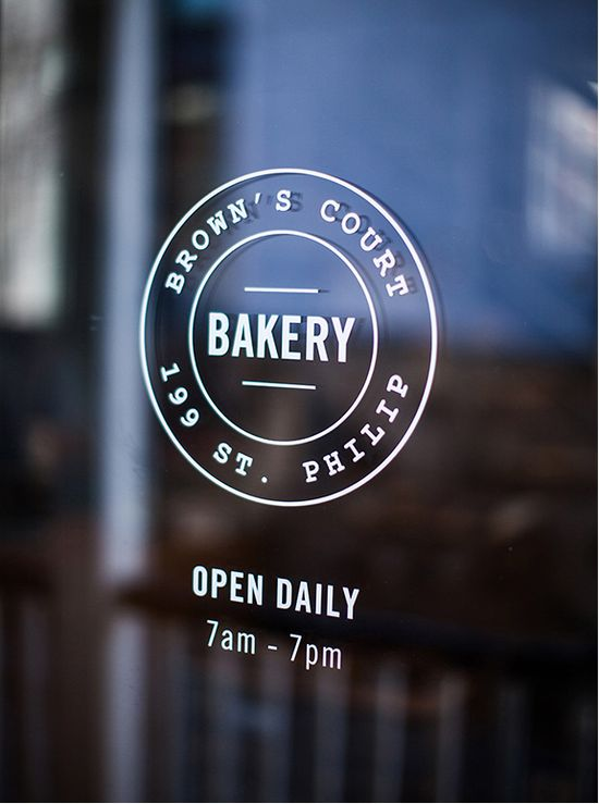 Browns Court Bakery Window Graphics