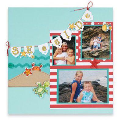 Seaside Scrapbook Page