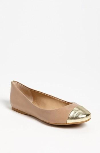 Gold cap toe flats!