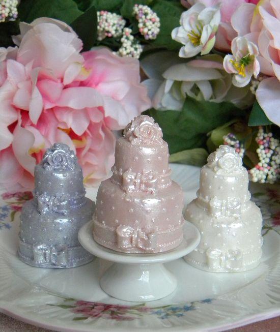 Wedding Cake Soaps....I make these, too!