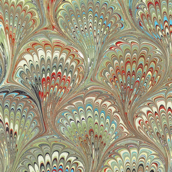 Handmade Marbled Paper