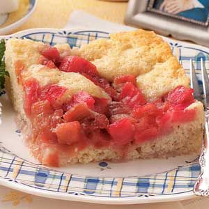 Rhubarb Cake Recipes from Taste of Home, including Old-Fashioned Rhubarb Pudding Cake Recipe