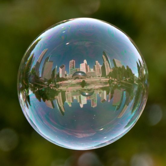 Chicago in a bubble.