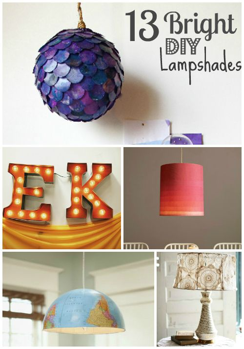 13 DIY lampshade ideas