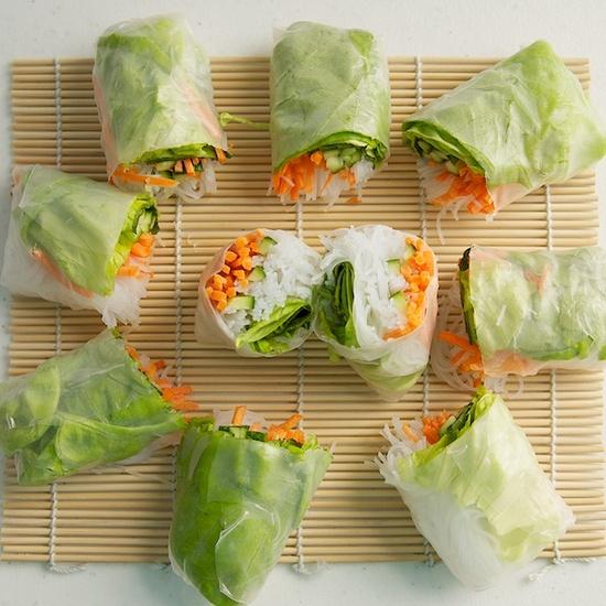 Spring rolls.