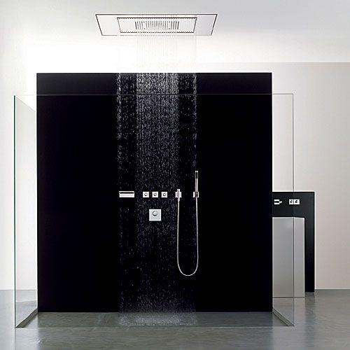 a black shower