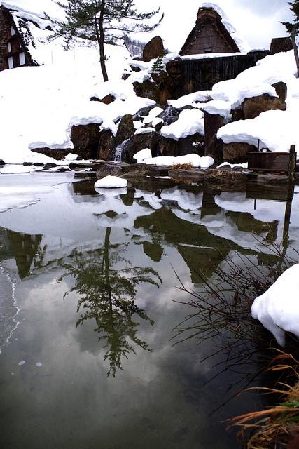 the World Heritage, Shirakawa Village in snow, Japan