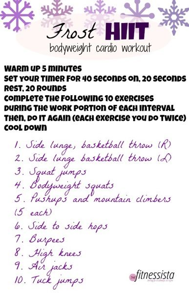 Frost HIIT workout. Bodyweight only. Torch calories in only 20 minutes!