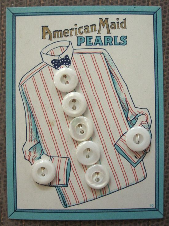 Vintage Buttons on Cards##