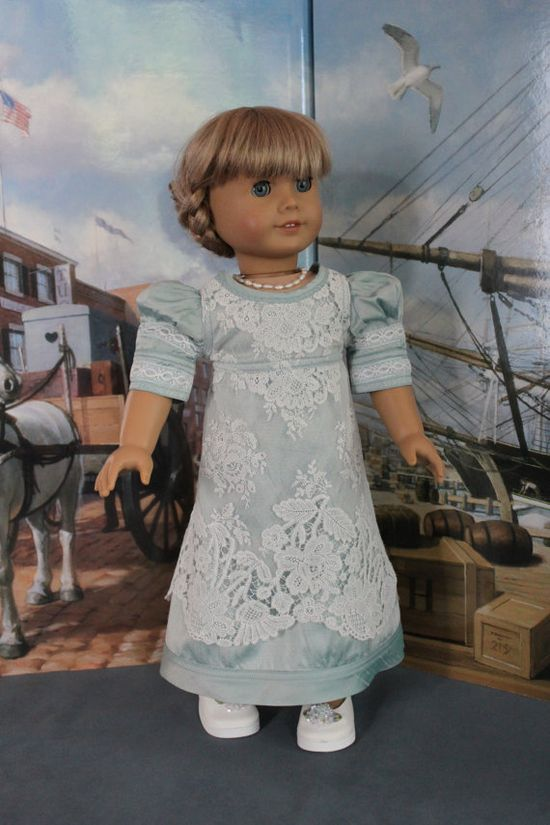 American Girl Doll Clothes  Regency Style by ForAllTimeDesigns, $78.00