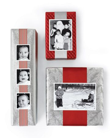 Great gift wrapping idea for photo lovers