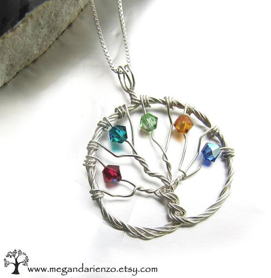Personalized Family Tree Mother's Necklace for by megandarienzo, $48.00