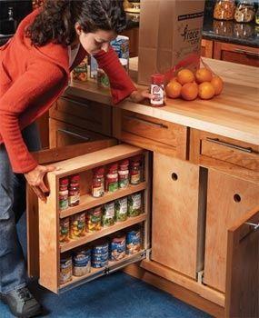 DIY Lower Kitchen Cabinet #kitchen decorating before and after #kitchen decorating