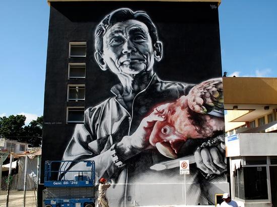 Street art by El Mac #arteurbana #streetart #urbanart #mural #wall