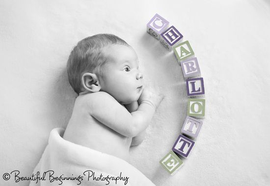 Cute idea. Newborn photo.