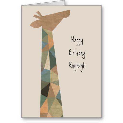 Abstract Giraffe Greeting Card