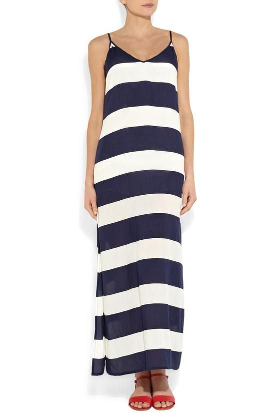 Pretty striped maxi dress.