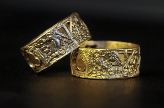 The Ruins Ring Solid White 14k Gold or Solid 14k by cassioppea, $750.00