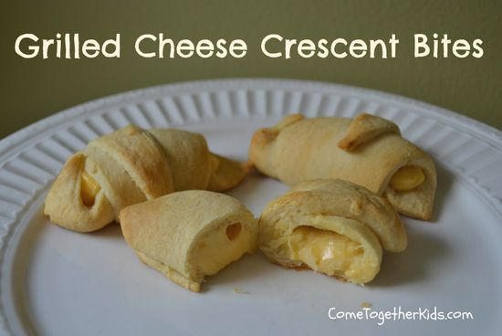 Come Together Kids: Grilled Cheese Crescent Bites