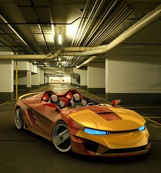 Iron Man Sports Car lol this is