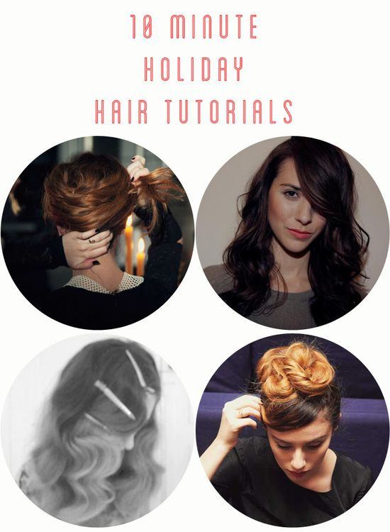 10 Minute Holiday Hair Tutorials from She Lets Her Hair Down.
