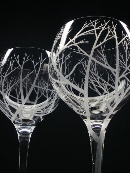 ręcznie malowane kieliszki do wina
