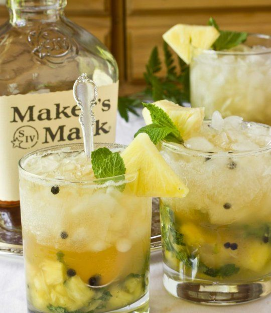 Cocktail Recipe:  Ginger-Mint Juleps with Fresh Pineapple   Recipes from The Kitchn
