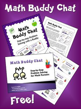 Math Buddy Chat Freebie from Laura Candler ~ Common Core Aligned with Mathematical Practices