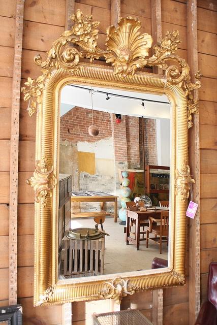 ornate mirror.