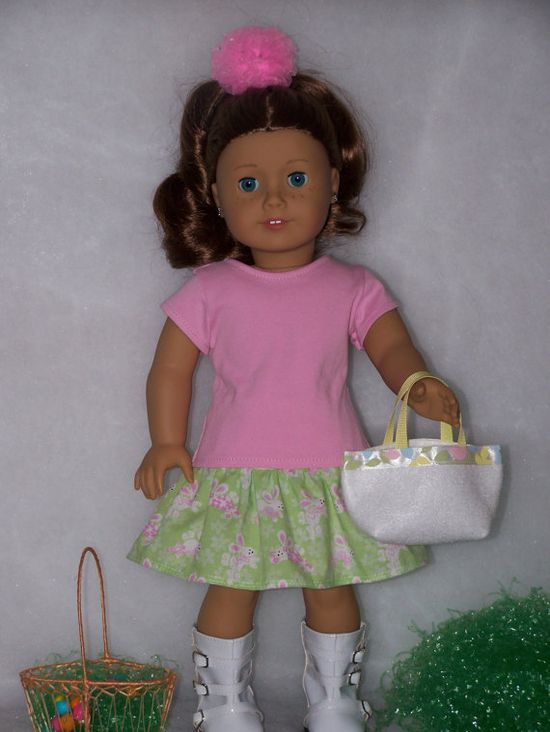 American Girl Doll Easter Spring Bunny by AuntSissyOriginals, $20.00