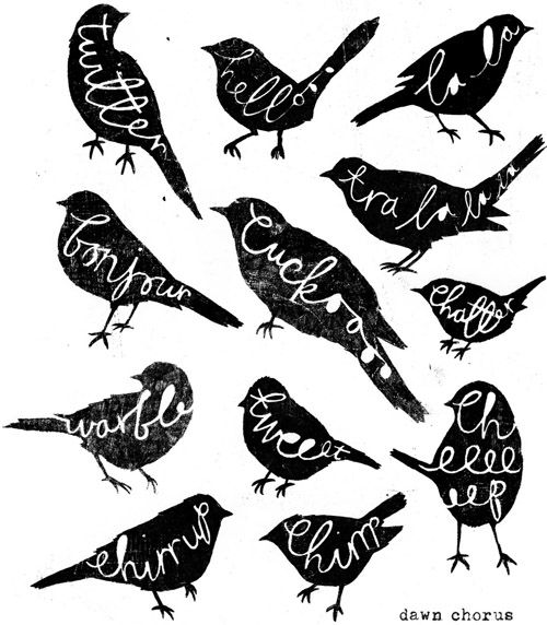 silhouettes, birds ?