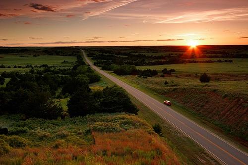 Hwy US 160, Gypsum Hills Scenic Byway, KS